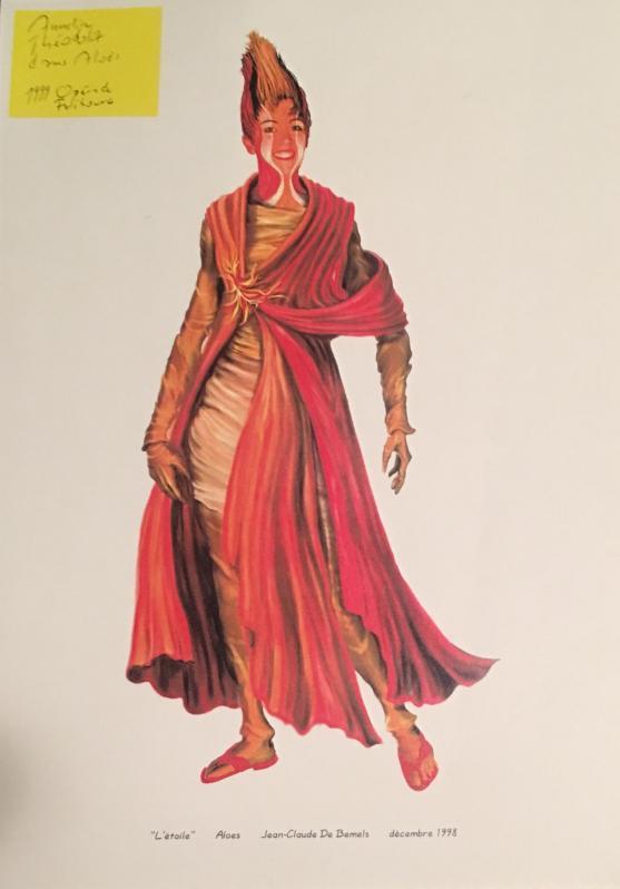 Annelise Théodoloz Aloès Chabrier Opéra de Fribourg 1999 Croquis J-Claude de Bemels