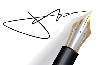 Signature avec un stylo plume 16240140
